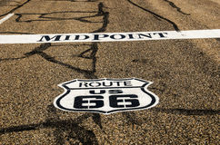 Punto mediano para Route 66 Imagen de archivo libre de regalías