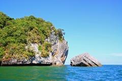 Punto navigante usando una presa d'aria al mare di Andaman Fotografie Stock Libere da Diritti