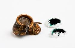 Punto negro y agujeros de punto negro aplastados Foto de archivo libre de regalías