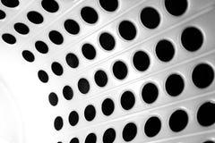 Punto nero astratto e bianco Immagini Stock