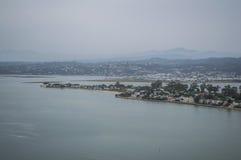 Punto panoramico con la vista di oceano, itinerario del giardino, la Provincia del Capo Occidentale di Knysna Immagine Stock