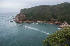 Punto panoramico con la vista di oceano, itinerario del giardino, la Provincia del Capo Occidentale di Knysna Fotografia Stock Libera da Diritti