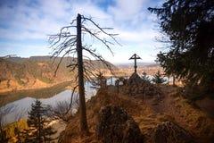 Punto panoramico Hohenwaldeck, vista allo schliersee del lago in autunno Fotografie Stock Libere da Diritti