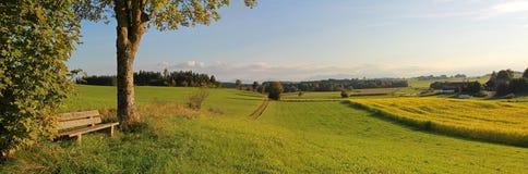 Punto panoramico nel paesaggio rurale Fotografia Stock Libera da Diritti