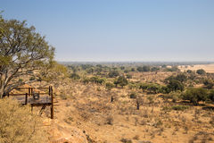 Punto panoramico nel parco nazionale di Mapungubwe, Sudafrica immagine stock libera da diritti