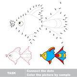 Punto para puntear el juego del rastro para los niños Imagenes de archivo