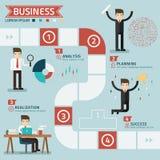 Punto per il concetto di affari di successo Fotografie Stock