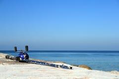 Punto perfecto de la pesca por el océano Fotos de archivo libres de regalías