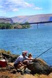 Punto perfetto di pesca Fotografia Stock
