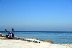 Punto perfetto di pesca dall'oceano Fotografia Stock
