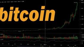 Punto più alto della storia del grafico delle azione di Bitcoin royalty illustrazione gratis