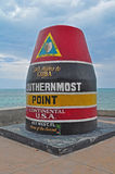 Punto più southernmost, Key West Florida Immagini Stock