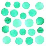 Punto precioso de Tosca Abstract Watercolor Polka Imágenes de archivo libres de regalías