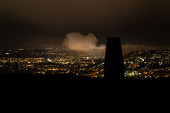 Punto profilato del trigliceride su poco bagno di trascuratezza della collina di Solsbury Fotografia Stock Libera da Diritti