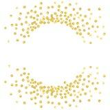 Punto redondo del oro Imágenes de archivo libres de regalías