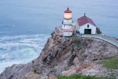 Punto Reyes Lighthouse, crepuscolo Immagini Stock Libere da Diritti