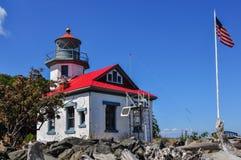 Punto Robinson Lighthouse una luz de guía de Puget Sound Fotografía de archivo
