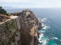 Punto roccioso del capo del litorale Fotografia Stock