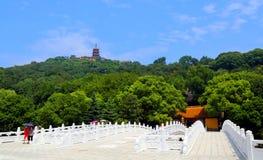 Punto scenico di langshan provincia in Nantong, Jiangsu, Cina Immagine Stock