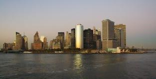 Punto Southmost di Manhattan, dal fiume Fotografie Stock Libere da Diritti