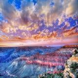 Punto Stati Uniti della madre del parco nazionale di Grand Canyon di tramonto dell'Arizona Fotografia Stock Libera da Diritti