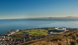 Punto Sudafrica di verde dello stadio di Città del Capo immagine stock libera da diritti