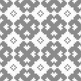 Punto trasversale, modello decorativo senza cuciture Ricamo e tricottare Geometrico astratto Ornamenti etnici illustrazione di stock