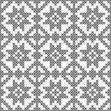 Punto trasversale, modello decorativo senza cuciture Ricamo e tricottare Geometrico astratto Ornamenti etnici illustrazione vettoriale