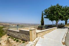Punto turístico con panorama asombroso, Chipre del punto de vista de Pissouri Imagen de archivo libre de regalías