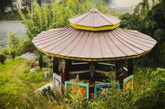 Punto turistico in cascata del Sikkim fotografia stock