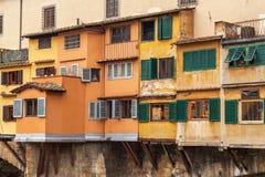 Punto Vecchio, pont à Florence, Italie Images libres de droits