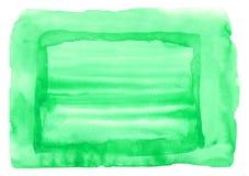 Punto verde colorido de la acuarela Imagenes de archivo