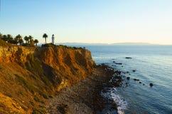 Punto Vicente Lighthouse a Palos Verdes Immagini Stock