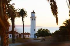 Punto Vicente Lighthouse a Palos Verdes Immagine Stock Libera da Diritti