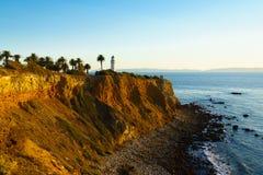 Punto Vicente Lighthouse a Palos Verdes Immagini Stock Libere da Diritti
