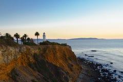 Punto Vicente Lighthouse a Palos Verdes Fotografia Stock Libera da Diritti