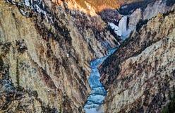 Punto Yellowstone de los artistas Foto de archivo libre de regalías