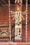 Puntone artistico del tetto, tempiale di Changu Narayan, Nepal Immagine Stock Libera da Diritti