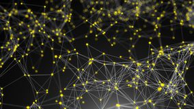 Puntos abstractos de la conexión Fondo de la tecnología Concepto de la red stock de ilustración