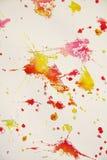 Puntos anaranjados rojos blancos plateados Fondo ceroso del invierno fotografía de archivo libre de regalías