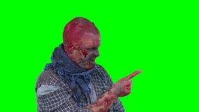 Puntos asustadizos del zombi en el finger de la esquina superior derecha almacen de metraje de vídeo