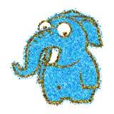 Puntos azules abstractos del elefante ilustración del vector