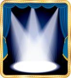 Puntos azules de la etapa Imagen de archivo libre de regalías