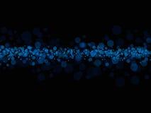 Puntos azules en negro ilustración del vector
