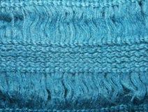 puntos azules hechos punto textura del moer de la bufanda Imágenes de archivo libres de regalías