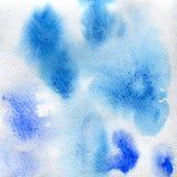 Puntos azules transparentes de la textura de la acuarela fondo abstracto, punto, falta de definición, terraplén Imágenes de archivo libres de regalías
