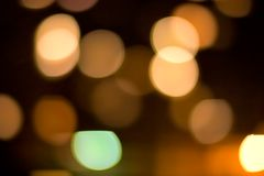 Puntos borrosos ligeros Imágenes de archivo libres de regalías