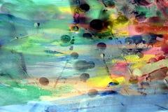 Puntos cerosos de la pintura de la acuarela, fondo abstracto Imagenes de archivo