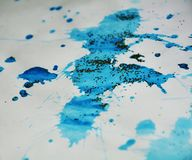 Puntos chispeantes azules plateados grises, fondo ceroso, diseño creativo imagen de archivo libre de regalías