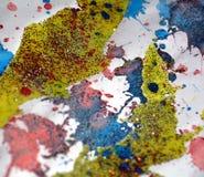 Puntos chispeantes vivos coloridos borrosos, fondo ceroso, diseño creativo Fotos de archivo